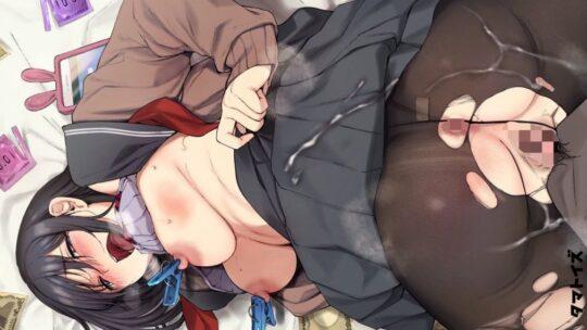 【不可侵領域】黒タイツ・黒ストッキングを履きながらセックスしている二次エロ画像【50枚】part.11